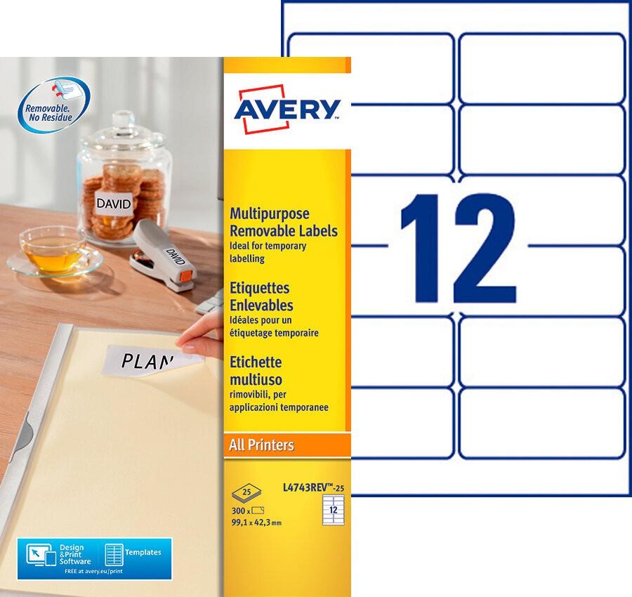 Afneembare etiketten l4743rev 25 avery for Avery etiketten